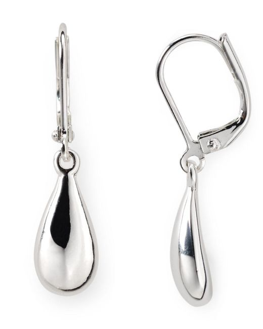 Ralph Lauren - Metallic Lauren Teardrop Earrings - Lyst