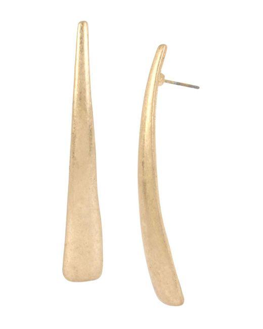 Robert Lee Morris - Metallic Geometric Tapered Drop Earrings - Lyst