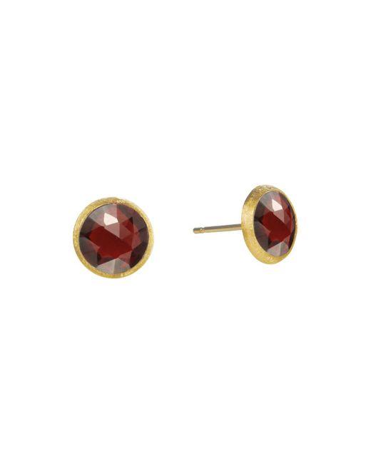 Marco Bicego - Metallic 18k Yellow Gold Jaipur Garnet Stud Earrings - Lyst