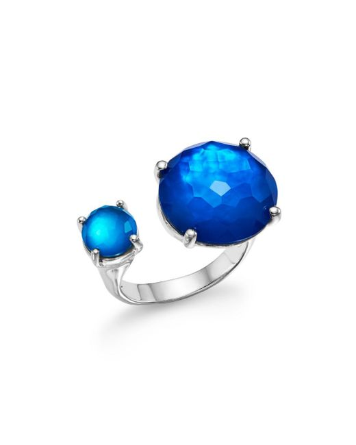 Ippolita - Metallic Sterling Silver Rock Candy® Wonderland Duo Stone Open Ring In Island - Lyst