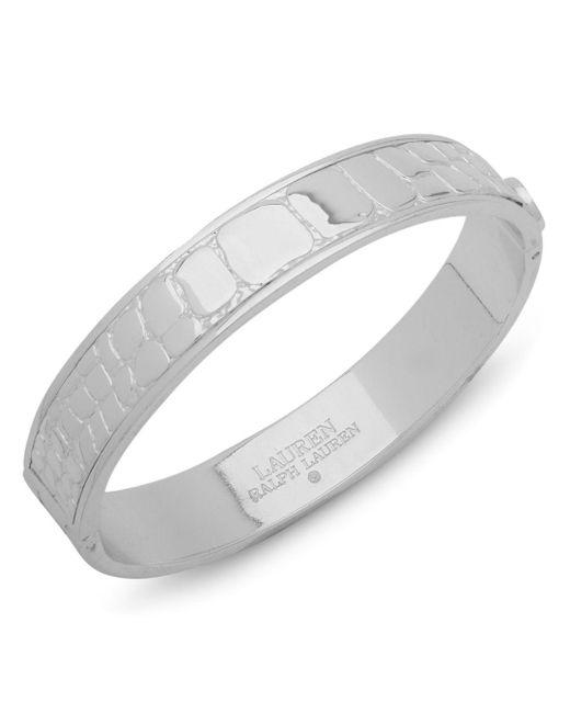 Ralph Lauren - Metallic Lauren Croc Embossed Bangle Bracelet - Lyst