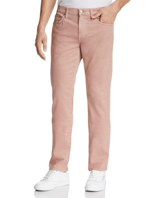 Joe's Jeans - Pink Brixton Straight Fit Twill Pants for Men - Lyst