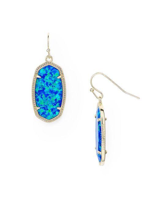 Kendra Scott | Blue Dani Kyocera Opal Drop Earrings | Lyst