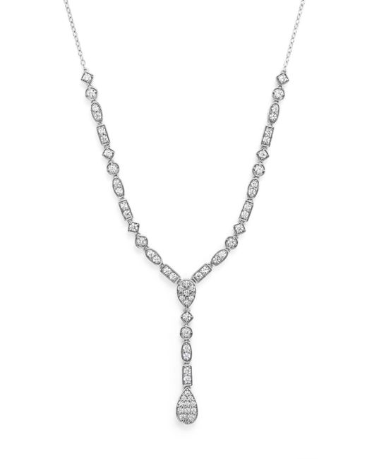 Bloomingdale's - Diamond Y Necklace In 14k White Gold, 2.0 Ct. T.w. - Lyst