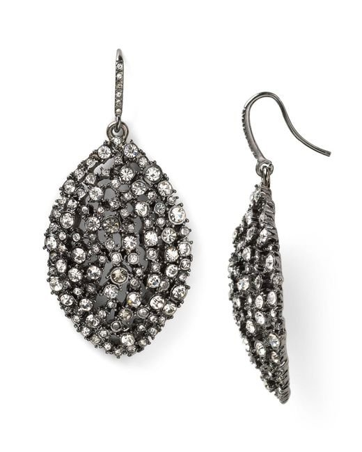 ABS By Allen Schwartz | Metallic Mixed Glass Navette Drop Earrings | Lyst