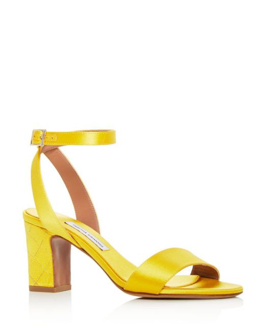 Tabitha Simmons - Yellow Women's Leticia Satin Ankle Strap High-heel Sandals - Lyst