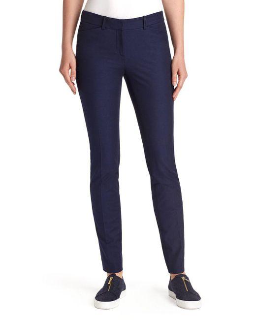 Lafayette 148 New York - Blue Manhattan Skinny Pants - Lyst