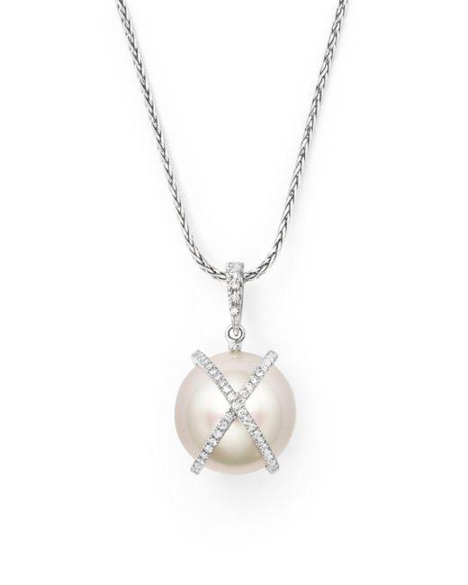 """Tara Pearls - Metallic 18"""" - Lyst"""