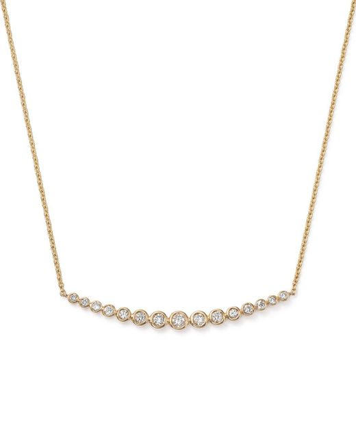 Bloomingdale's - Metallic Graduated Bar Necklace In 14k Yellow Gold, .50 Ct. T.w. - Lyst