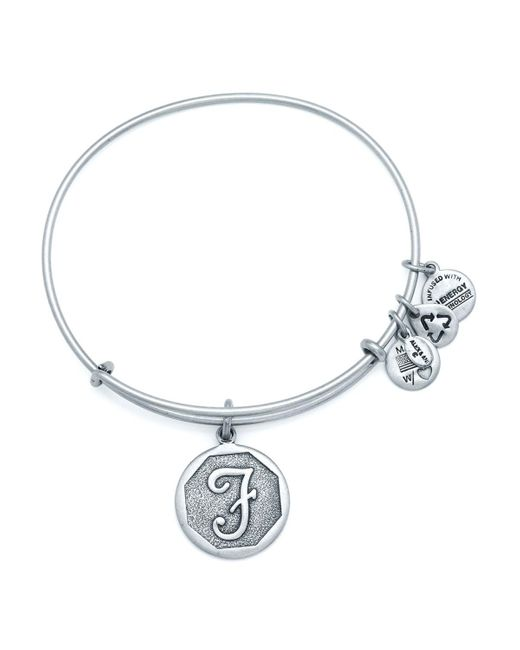 ALEX AND ANI | Metallic Initial Bangle | Lyst