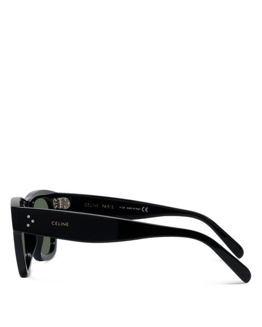 526a6780c9dd ... Lyst Céline - Black Women's Rectangular Sunglasses ...