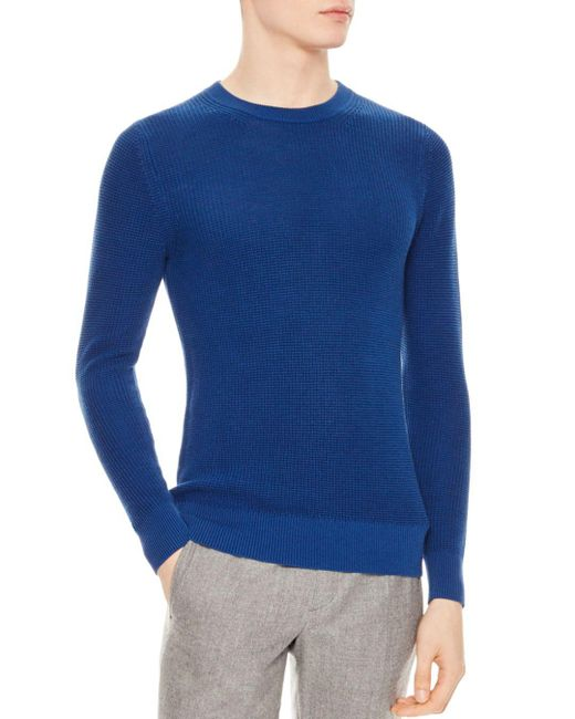Sandro - Blue Celest Sweater for Men - Lyst