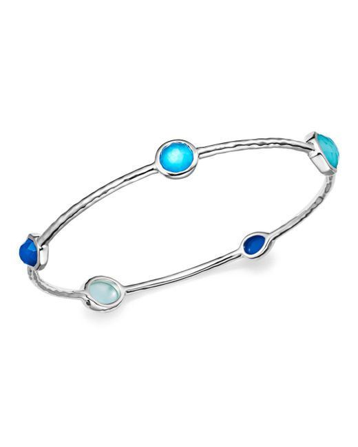 Ippolita - Blue Sterling Silver Rock Candy® Wonderland Bangle In Island - Lyst