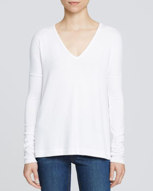 Rag & Bone - Gray Theo Long Sleeve V-neck Tee - Lyst