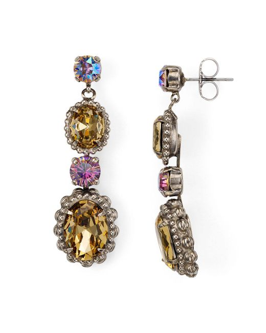 Sorrelli - Multicolor Multi-stone Post Earrings - Lyst