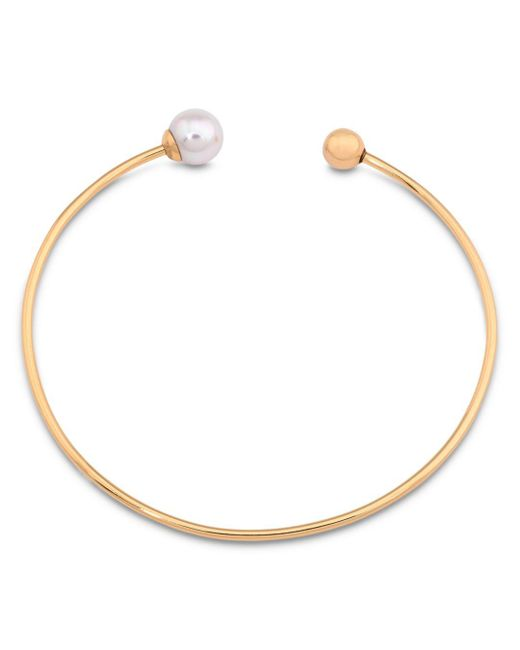 Majorica - Metallic Nuage Simulated Pearl Bangle - Lyst