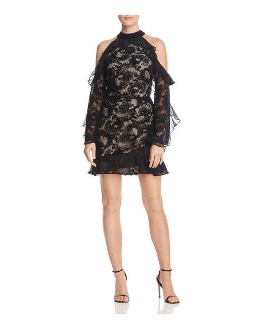 Parker   Black Skyler Cold-shoulder Lace Dress   Lyst