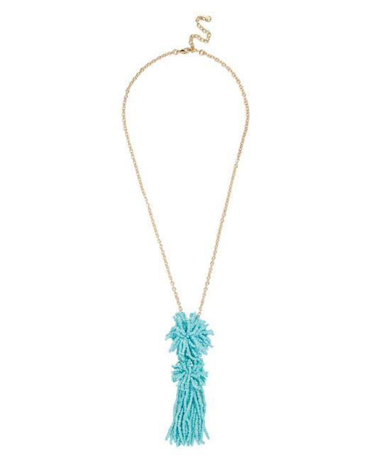 BaubleBar - Blue Rishita Pendant Necklace - Lyst