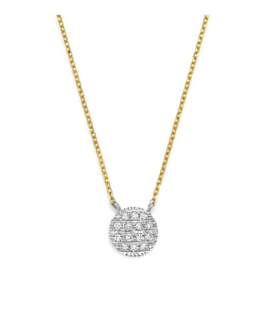 Dana Rebecca | Metallic 14k White & Yellow Gold Lauren Joy Mini Necklace With Diamonds | Lyst