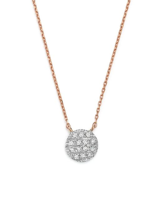 Dana Rebecca | Metallic 14k White & Rose Gold Lauren Joy Mini Necklace With Diamonds | Lyst