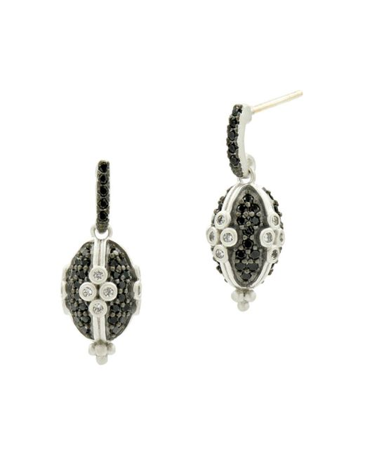 Freida Rothman - Metallic Industrial Clover Earrings - Lyst