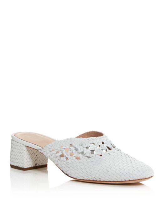 Loeffler Randall - White Women's Lulu Woven Leather Mules - Lyst