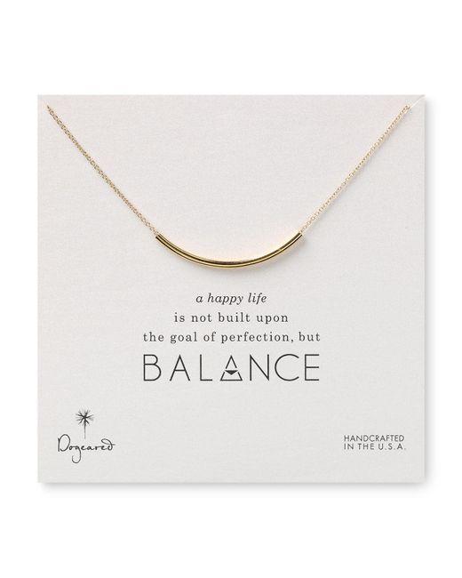 "Dogeared | Metallic Balance Tube Necklace, 18"" | Lyst"