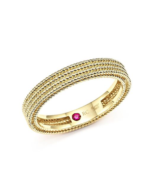 Roberto Coin | Metallic 18k Yellow Gold Symphony Braided Ring | Lyst