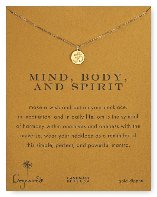 Dogeared | Metallic Mind, Body & Spirit Pendant Necklace, 18"