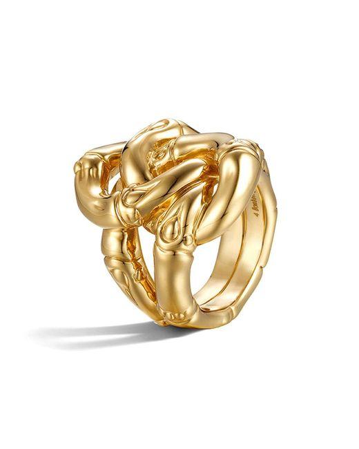John Hardy | Metallic Bamboo 18k Yellow Gold Knot Ring | Lyst