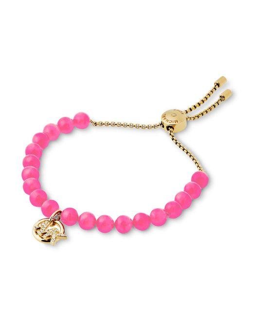 Michael Kors   Pink Beaded Slider Bracelet   Lyst