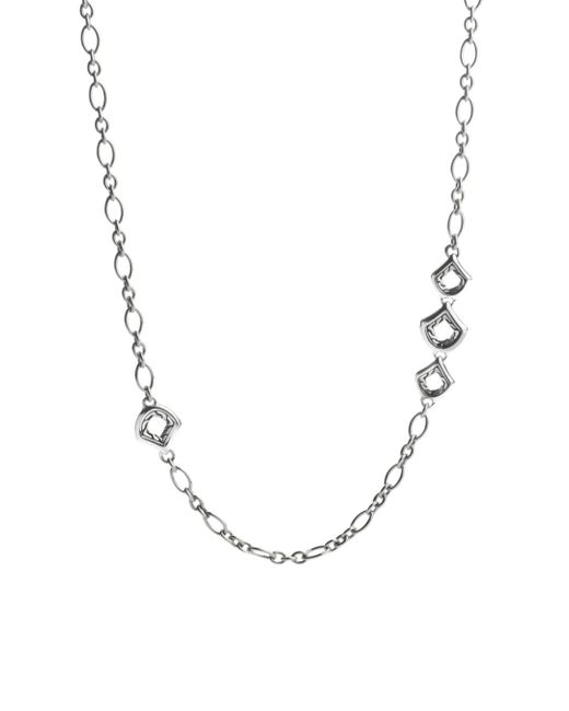 """John Hardy - Metallic Naga Sterling Silver Figaro Chain Necklace With Figurative Clasp, 36"""" - Lyst"""