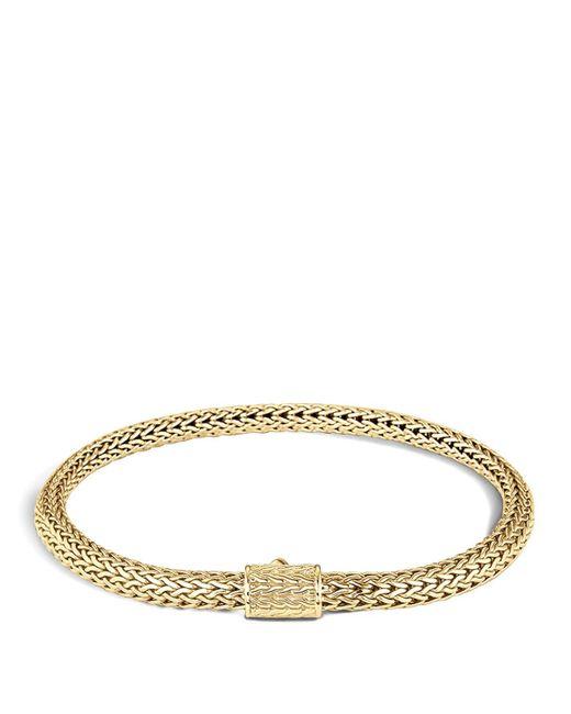 John Hardy   Metallic Classic Chain 18k Gold Extra Small Bracelet   Lyst