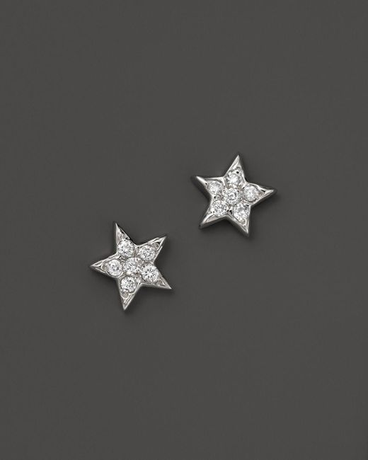 KC Designs | Diamond Star Studs In 14k White Gold, .15 Ct. T.w. | Lyst