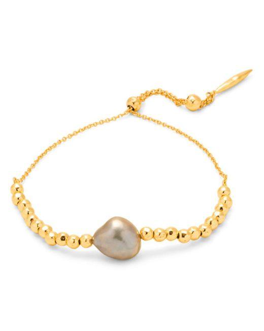 Gorjana - Metallic Vienna Cultured Freshwater Pearl Slider Bracelet - Lyst