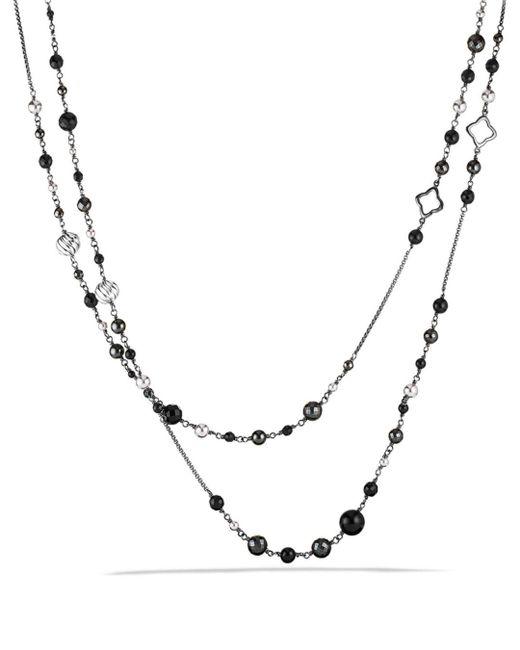 David Yurman - Metallic Dy Elements Chain Necklace With Black Onyx & Hematine - Lyst