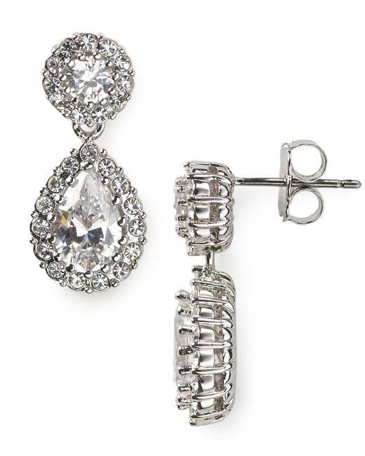 Nadri   Metallic Pear Drop Earrings   Lyst