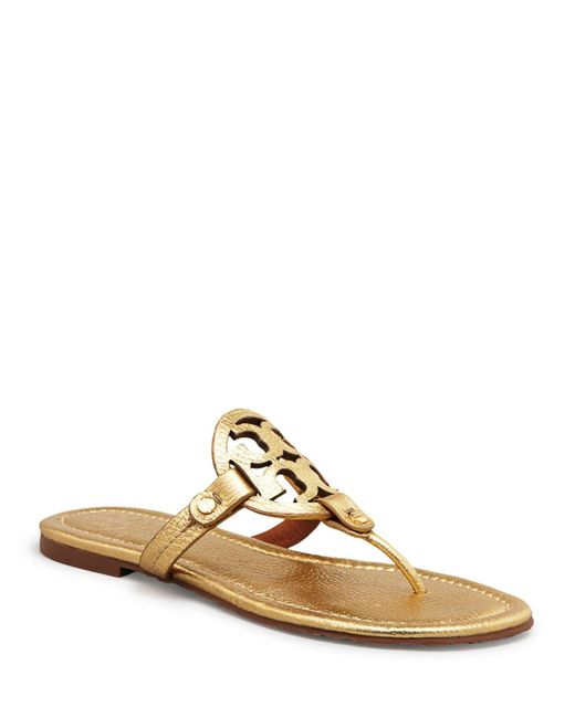 Tory Burch | Miller Metallic Leather Sandals | Lyst