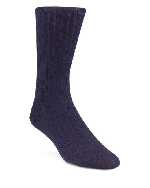Calvin Klein - Blue Ribbed Dress Socks for Men - Lyst