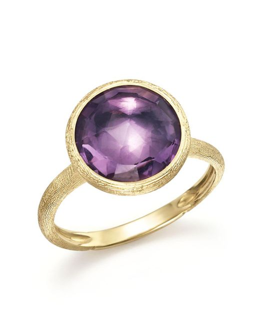 Marco Bicego - Multicolor 18k Yellow Gold Jaipur Ring With Amethyst - Lyst