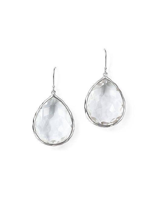 Ippolita - Metallic Sterling Silver Rock Candy Large Teardrop Earrings In Clear Quartz - Lyst
