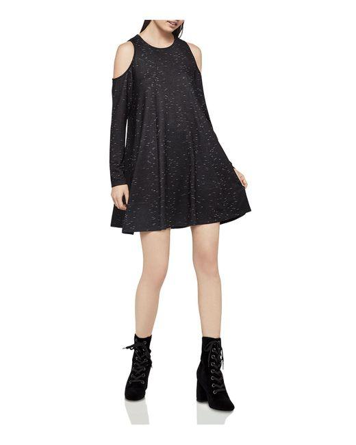 BCBGeneration - Black Cold-shoulder Space-dye Tent Dress - Lyst