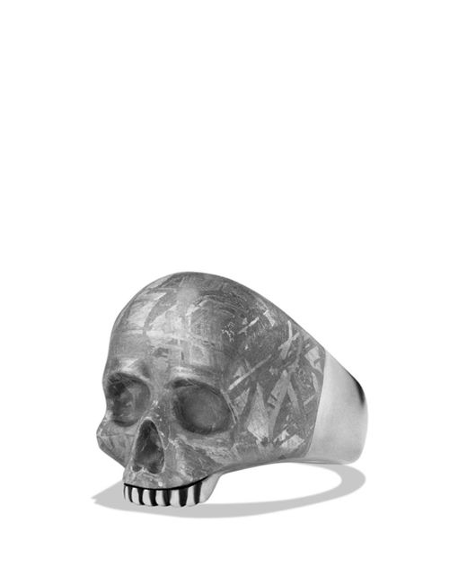 David Yurman - Metallic Skull Ring With Carved Meteorite for Men - Lyst