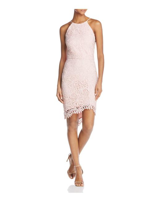 Adelyn Rae | Pink Louise Lace Fishtail Dress | Lyst