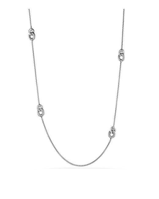 David Yurman | Metallic Belmont Necklace With Diamonds | Lyst