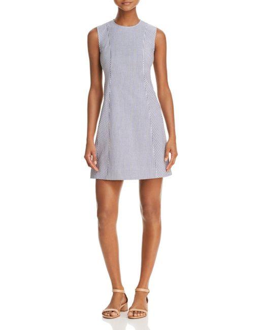Theory - White Helaina Striped Dress - Lyst
