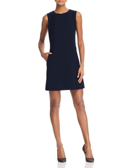 ed34767a18 Theory - Blue Helaina Wool - Blend Shift Dress - Lyst ...
