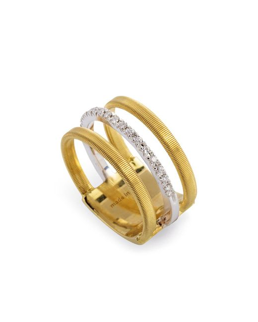Marco Bicego - Metallic 18k Yellow & White Gold Goa Ring With Diamonds - Lyst