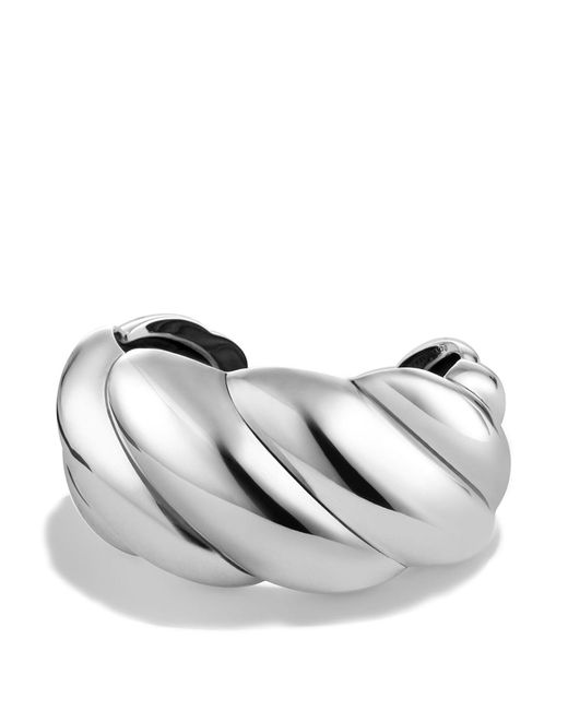 David Yurman - Metallic Sculpted Cable Cuff Bracelet - Lyst