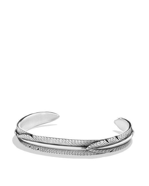 David Yurman | Metallic Feather Wrap Cuff Bracelet | Lyst